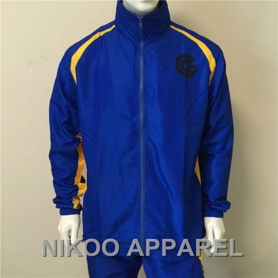 Custom Microfiber Shell Mesh Lining Jacket Tracksuit Man Jacket Tracksuit