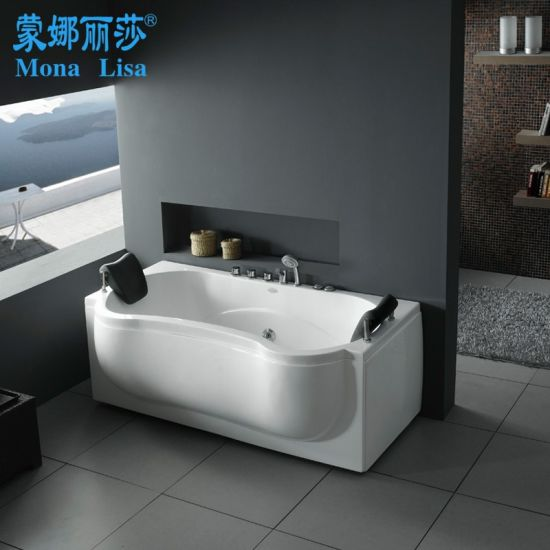 china monalisa face to face couple two person bathtub with jets (m