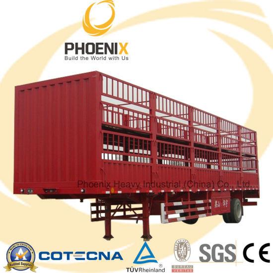 Tri-Axle Fence Cargo Semi Trailer for Carrier Livestock