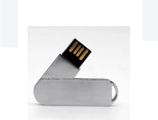 OEM Mini High Speed 4GB / 8GB / 16GB /32GB Metal Swivel USB Memory Stick for Electronic Gifts