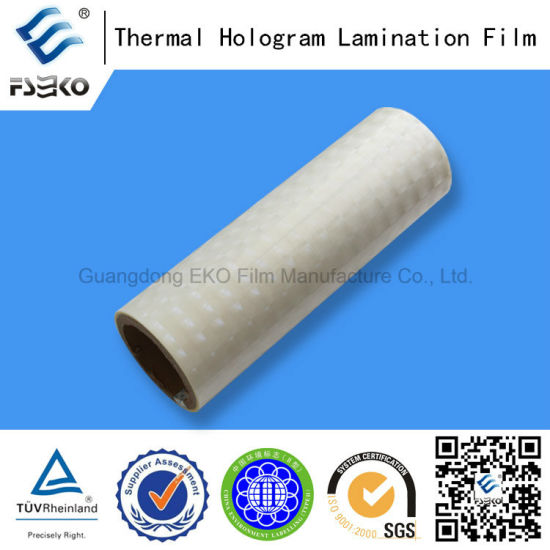 3D BOPP Thermal Laminating Film for Anti-Fake Label pictures & photos