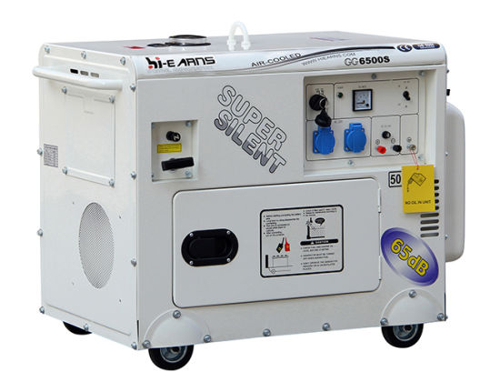 Super Silent Petrol Generator Set (GG6500S) pictures & photos