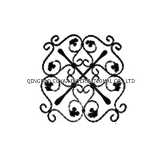 Decorative Fence Panel 11036 Wrought Iron Rosette pictures & photos