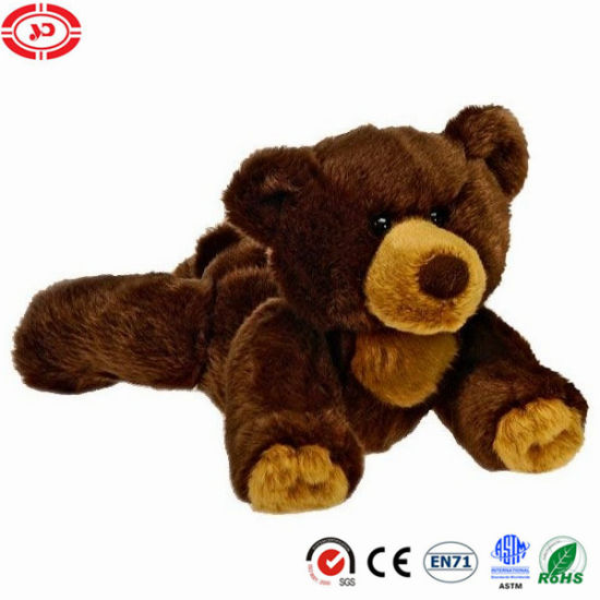 Grizzy Bear Movable Lying Brown Quality Soft Stuffed Plush Toy
