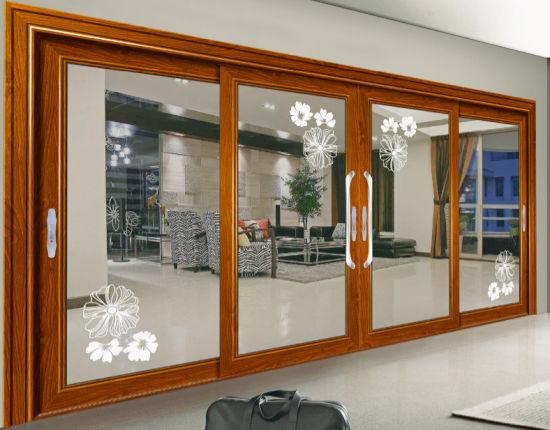 Thermal Break Sound Proof Aluminum Door with Double Glazing & China Thermal Break Sound Proof Aluminum Door with Double Glazing ...