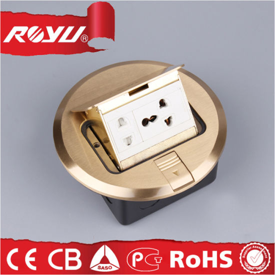 Brass Cover Ground Socket, Electrical Floor Mounted Sockets