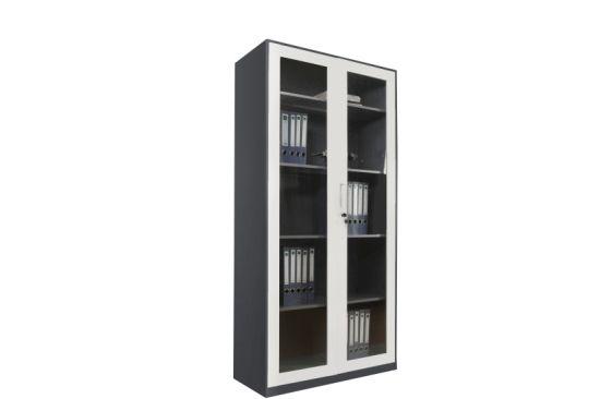 China Metal Semi Glass Door Office Furniture Low Almari Steel File