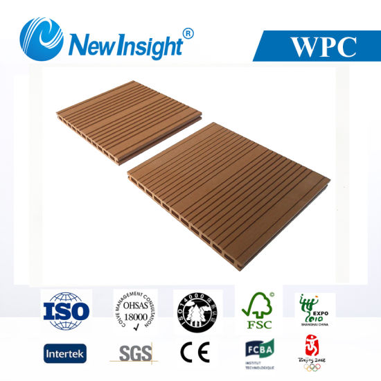 294*23mm Exterior Wood Plastic Composite Flooring (LHMA053)