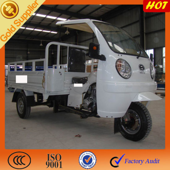 Adult Gas Motor Cargo Cabin Tricycle pictures & photos