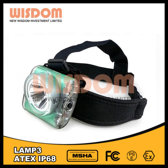 Wisdom New Generation Cordless Cap Lamp3, LED Headlight 12000lux pictures & photos