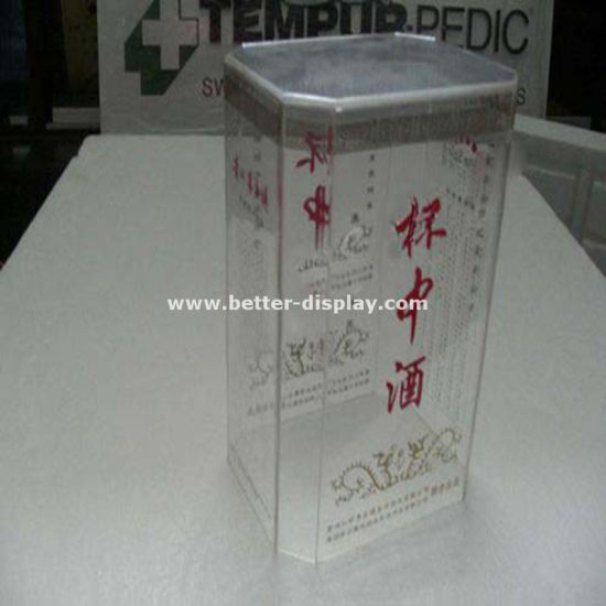Wholesale Clear Plastic Wine Glass Gift Box