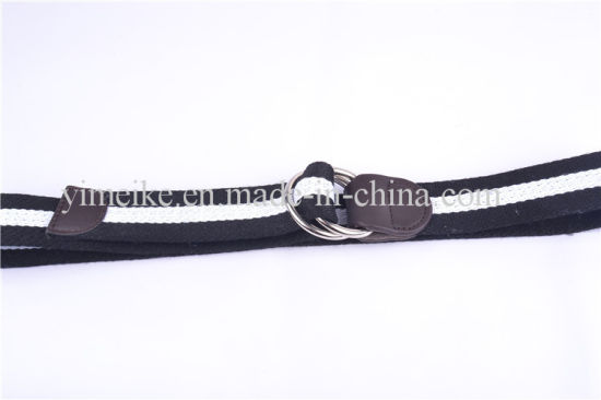 Fashion Style Original Double Loop Buckle Men′s Stock Fabric Belts pictures & photos