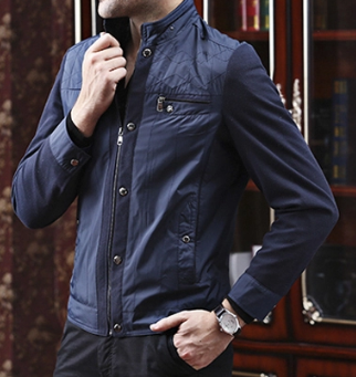 Wholesale OEM Joint-Fabric Men's Casual Fashion Jacket