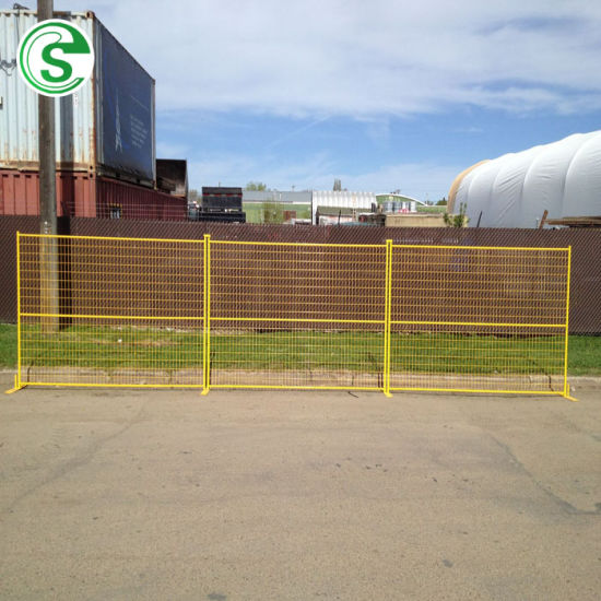 Canada Standard Powder Coated Temporary Mesh Fence with Base