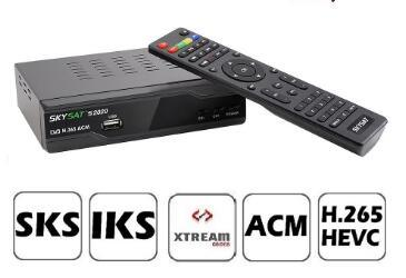 Stable and Non-Freezen Satellite Receiver Sks Iks Skysat S2020 with IPTV  WiFi and PVR Ready