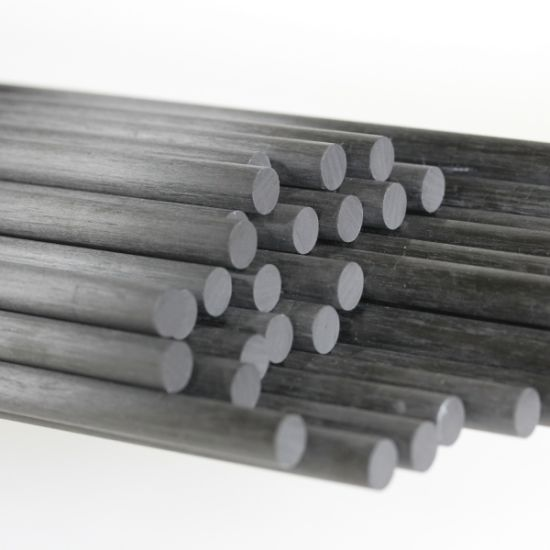 Epoxy Carbon Fiber Rod Diameter 3mm to 100mm Pultrusion High Strength High Modulus Corrosion Resistance Real Factory
