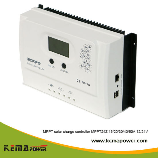 Kema 15-50AMP 12V/24VDC MPPT24z Series Solar Power Controller for Battery Charge
