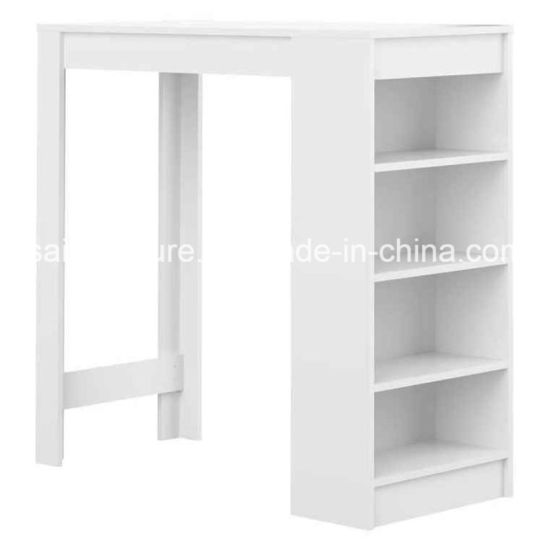 White/Grey Color High Bar Table