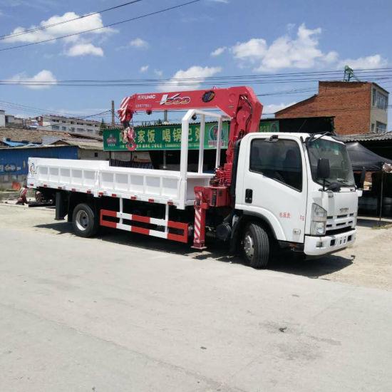 Isuzu 700p Euro 4 Euro 5 Single Row Truck Crane Mounted Unic Crane