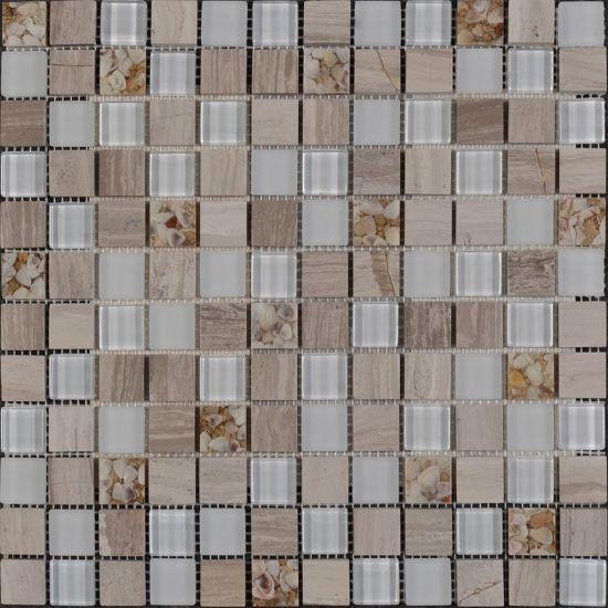 Manhattan Blend Stone Gl Mosaic Tile