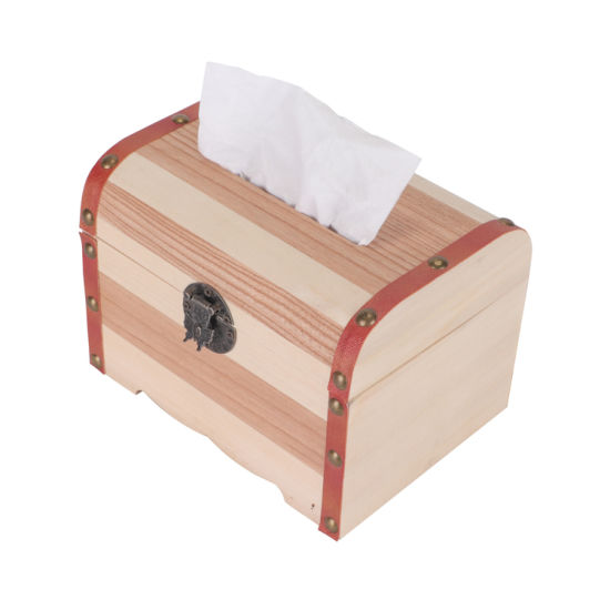 2019 Hot Sale Custom Wholesale High Quality Wooden Tissue Box