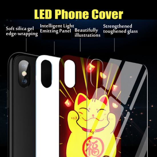 Colorful Luminous Intelligent Voice Control Mobile Phone Case pictures & photos