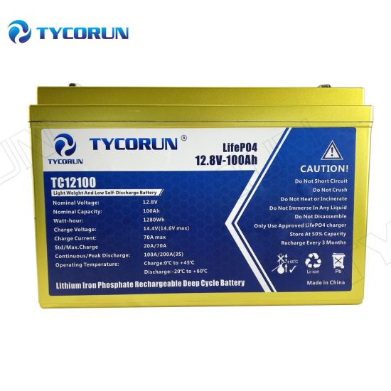 Tycorun 12 V Lithium Ion Battery 100ah Cheap LiFePO4 Batteries Lithium Battery for Solar Storage