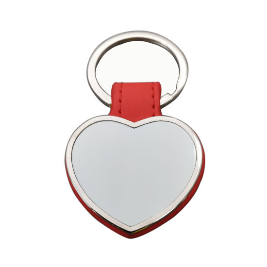 Custom Shape Real or PU Leather with Logo Customized Keychain for Promotional Gift
