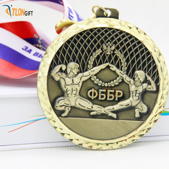 High Quality Double Sided 3D of Sport Metal Medal