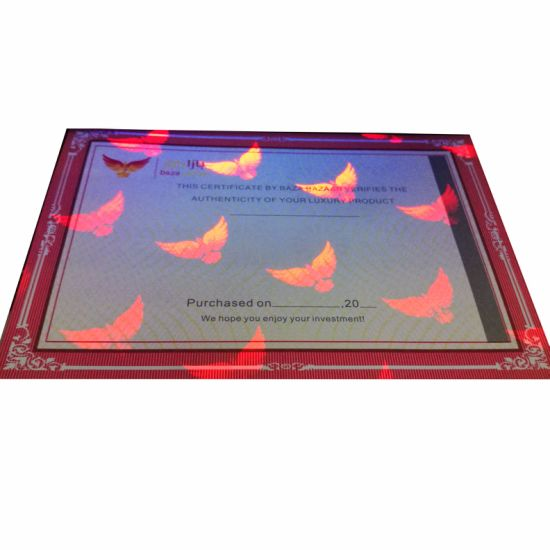 UV Invisible Printing Diploma Certificate for University pictures & photos