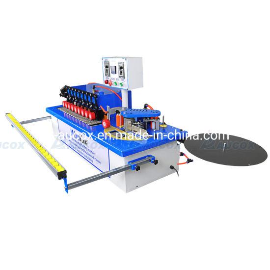 Woodfung Semi Automatic Edge Banding Machine Armed Curve MDF Manual Edge Banding Machine
