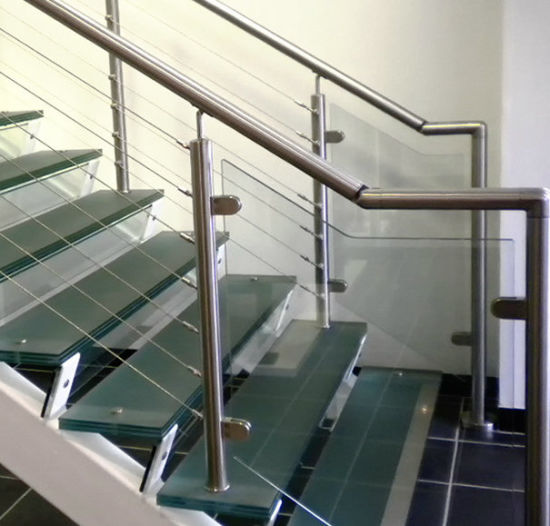 Unique Design Stainless Steel Glass Balustrade Cable Railing for Stair