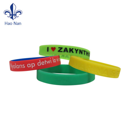 Custom Silicone Wristband/Bracelets for Promotion Gift/Party/Festival