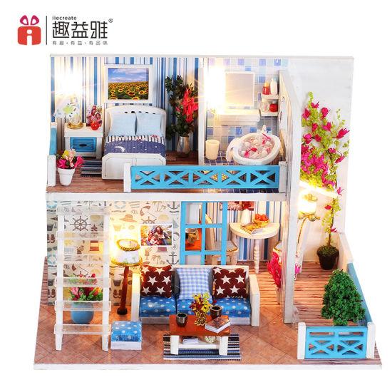 1 12 2 Floor 3D Puzzle Dream DIY House Dollhouse Miniatures 2019