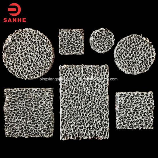 China Silicon Carbide Sic Ceramic Foam Filter for Metal