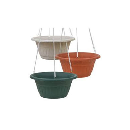 Hanging Flower Pot Resin Plastic Planters Pot Hanging Flower Pot with Hook Injection Mold pictures & photos