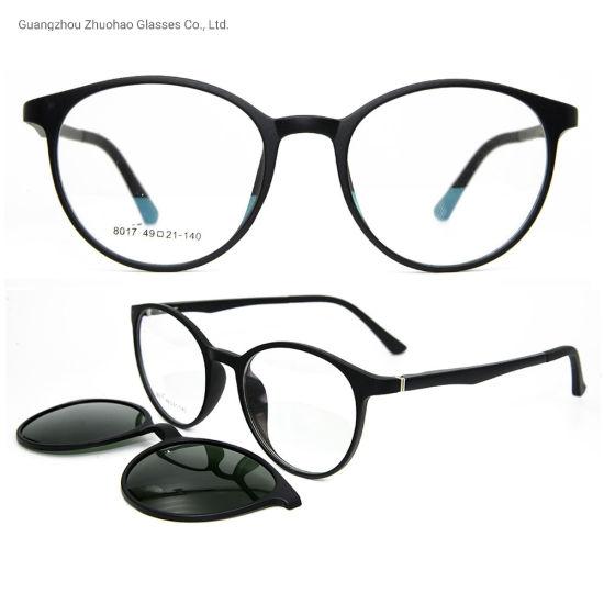 Fashion Style Factory Custom Magnetic Tr90 Optical Frames Clip on Sunglasses for Men Women