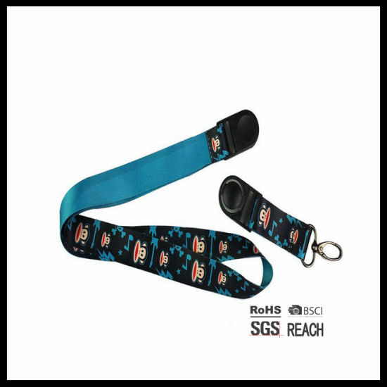 Custom Cheap Heat Transfer Printed Detachable Lanyard with Swivel Buckle and Rivet pictures & photos