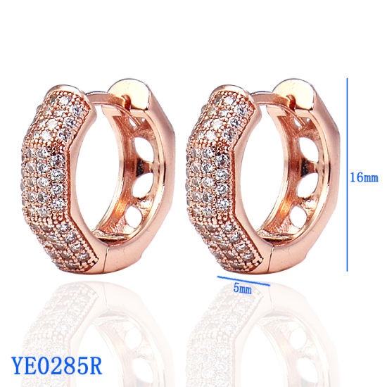 df42e1ef2 High End Fashion Jewelry 925 Sterling Silver or Brass CZ Hoop Earrings for  Wholesale pictures &