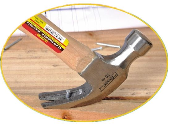 20oz High Quality Hand Tools 45# Nail Hammer Claw Hammer with Wooden Handle pictures & photos