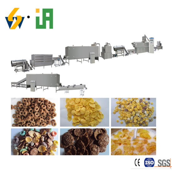 Oat Corn Flakes Breakfast Ceral Snacks Food Processing Making Machinery Line