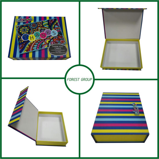 Thank You Postcard Colorful Packaging Gift Box