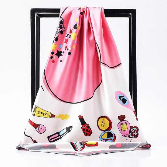 Wholesale Custom Shawl Scarves Women Digital Print Silk Scarf Square