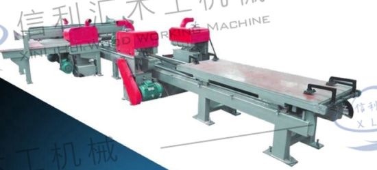 High Precision Plywood Automatic Four Edge Trimming Saw Size Adjustable Trimming Cutting Saw Machine Construction Engineering Sheet Metal Manufacturing Industry