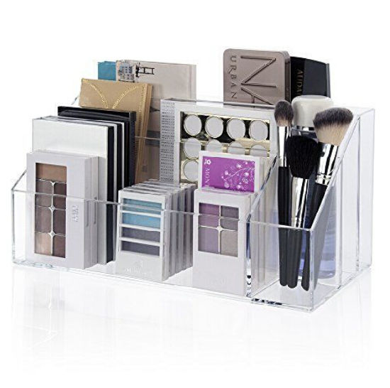 Makeup Palette Organizer Acrylic Cosmetic Case Brush Holder Storage Box Pictures Photos