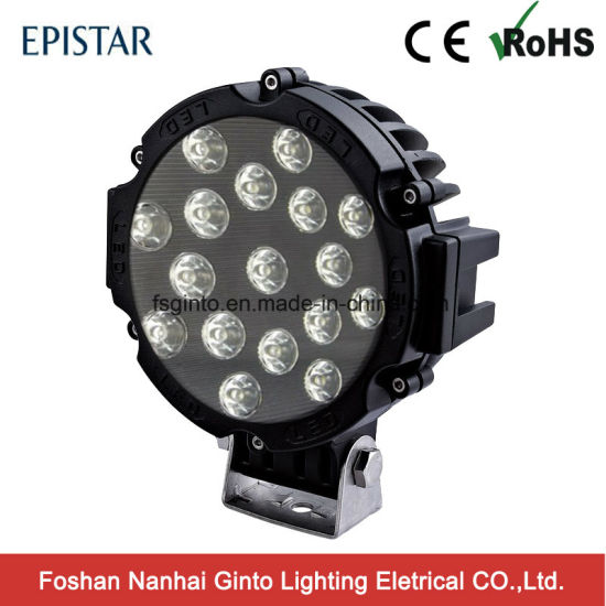 China Factory 7 Black Ring Epistar Led Work Light For Truck Gt1015b 51w