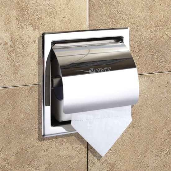 China Modern Style Stainless Steel Bathroom Accessory Wc Paper Custom Paper Dispensers Bathroom Style