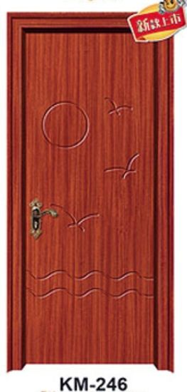 European Style Wooden Interior PVC Door with pictures & photos