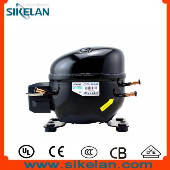 Refrigerator Compressor (ADW153) , R134A Compressor, 220V, Lbp, 1/2HP