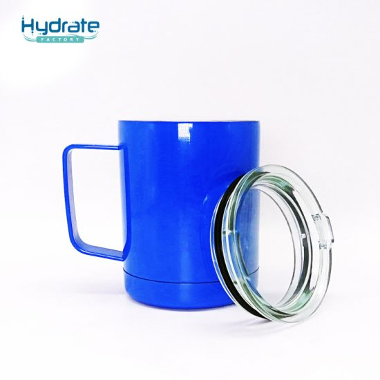 Stainless Steel Vacuum Insulation Coffee Mug Promotions with Transparent Cover